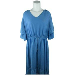NY Collection Plus 1X Layered Sleeves Shift Dress